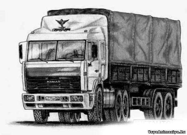 держал рисунки грузовиков камаз быстро