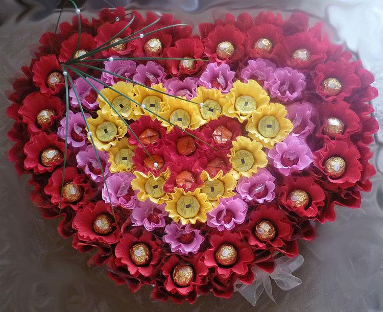 День всех влюбленных цветы подарков своими руками, заказ