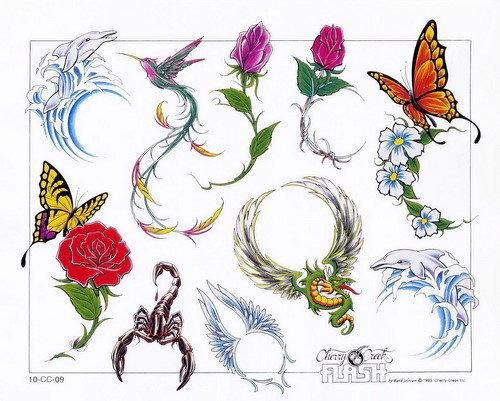 Эскизы татуировок для женщин