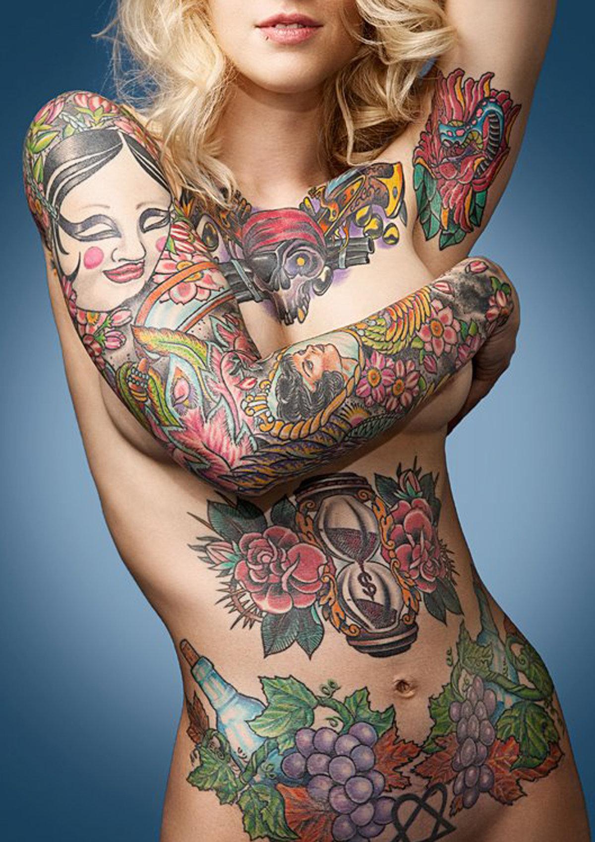 Женские татуировки - Мастер татуировки Андрей Елисеев в Калининграде +7(4012) 52-41-61