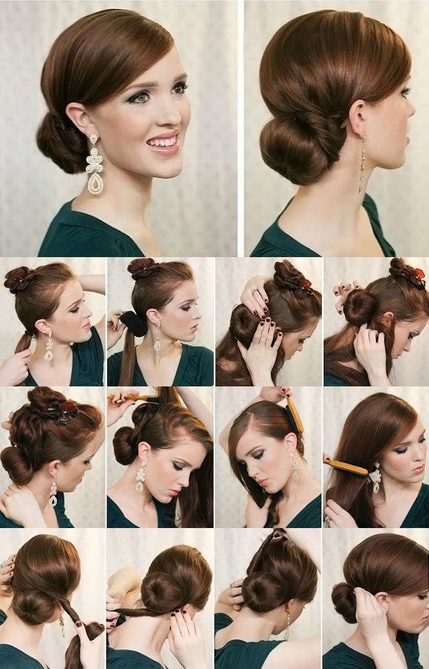Хвостик длинных волос своими руками фото 700