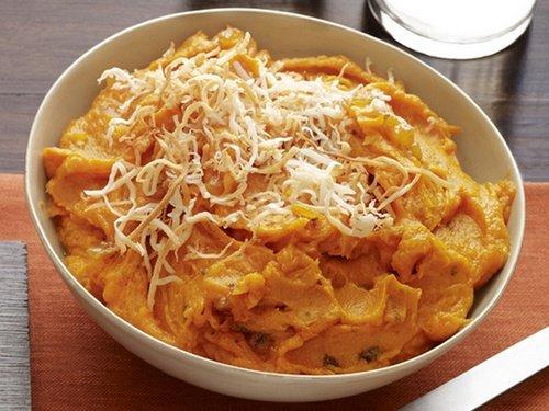 Картофельное пюре из батата по-индийски