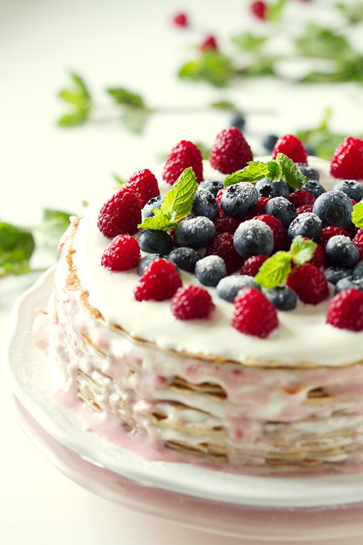 Домашний торт с ягодами рецепт с фото