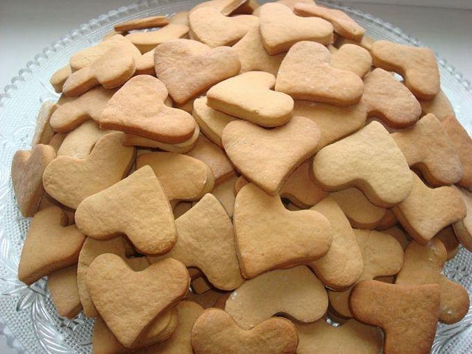 Коржики сметанные «Сердечки»