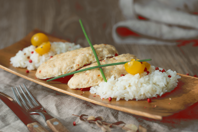 Котлеты куриные на пару с рисом