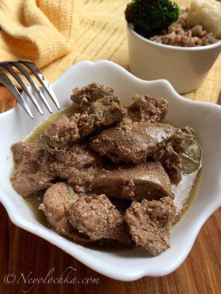 Куриная печень со сливками, приготовленная в мультиварке | Блог Неёлочки