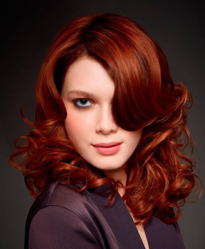 модное окрашивание на рыжие волосы