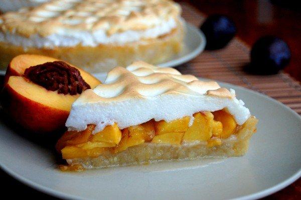 Нектариновый пирог с меренгой (по Джейми Оливеру) - Простые рецепты