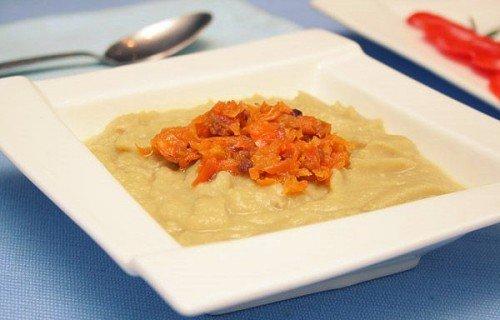 Рецепт гороховой каши с овощами и сливками