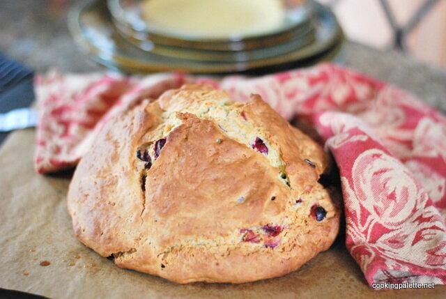 Содовый хлеб с клюквой. Содовый хлеб с клюквой и розмарином