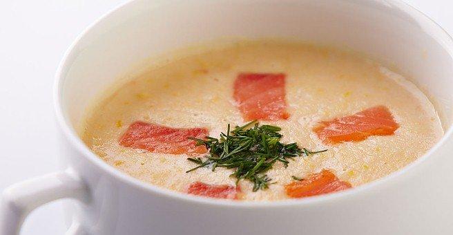 Суп пюре из форели