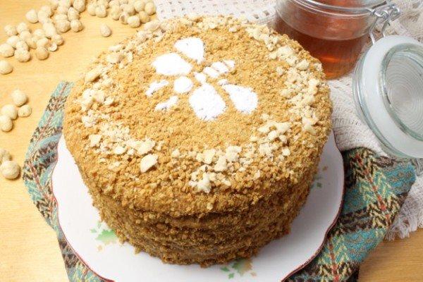 Классический медовый торт фото рецепт