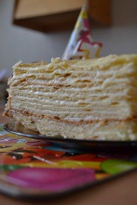 торт наполеон в виде паспорта пошаговый рецепт