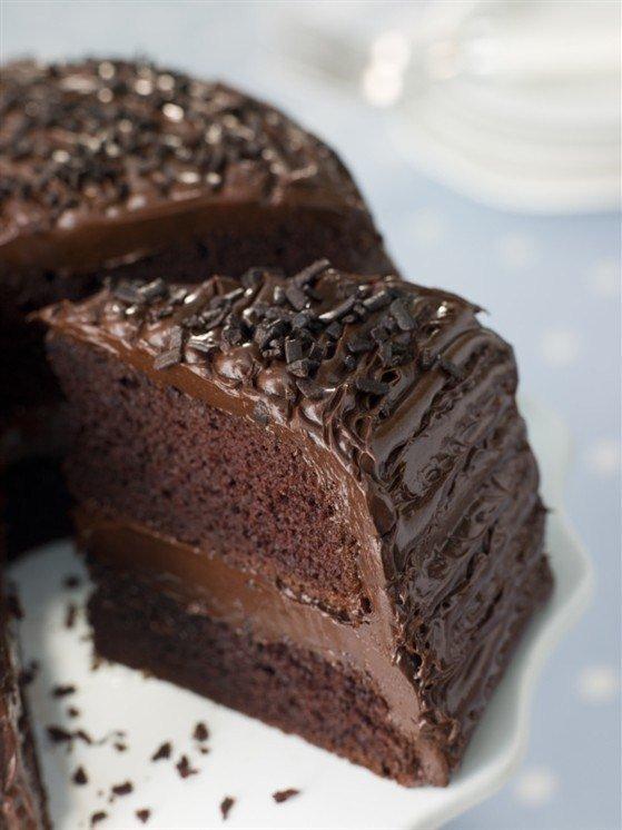 Торт шоколадный с шоколадным кремом рецепт с фото