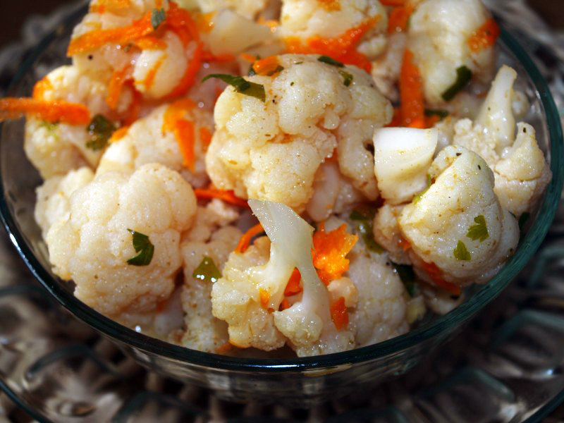 Цветная капуста по-корейски - Салаты из овощей - Рецепты - Вкусные рецепты на каждый день