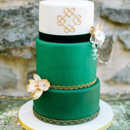 Фотография > Торт свадебный зеленый