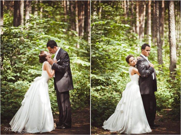 Фотография жениха с невестой коллаж