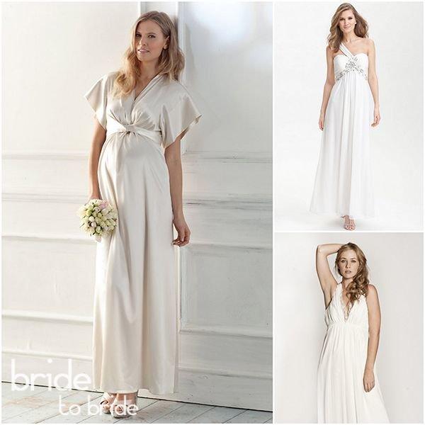 Греческие свадебные платья для беременных 2