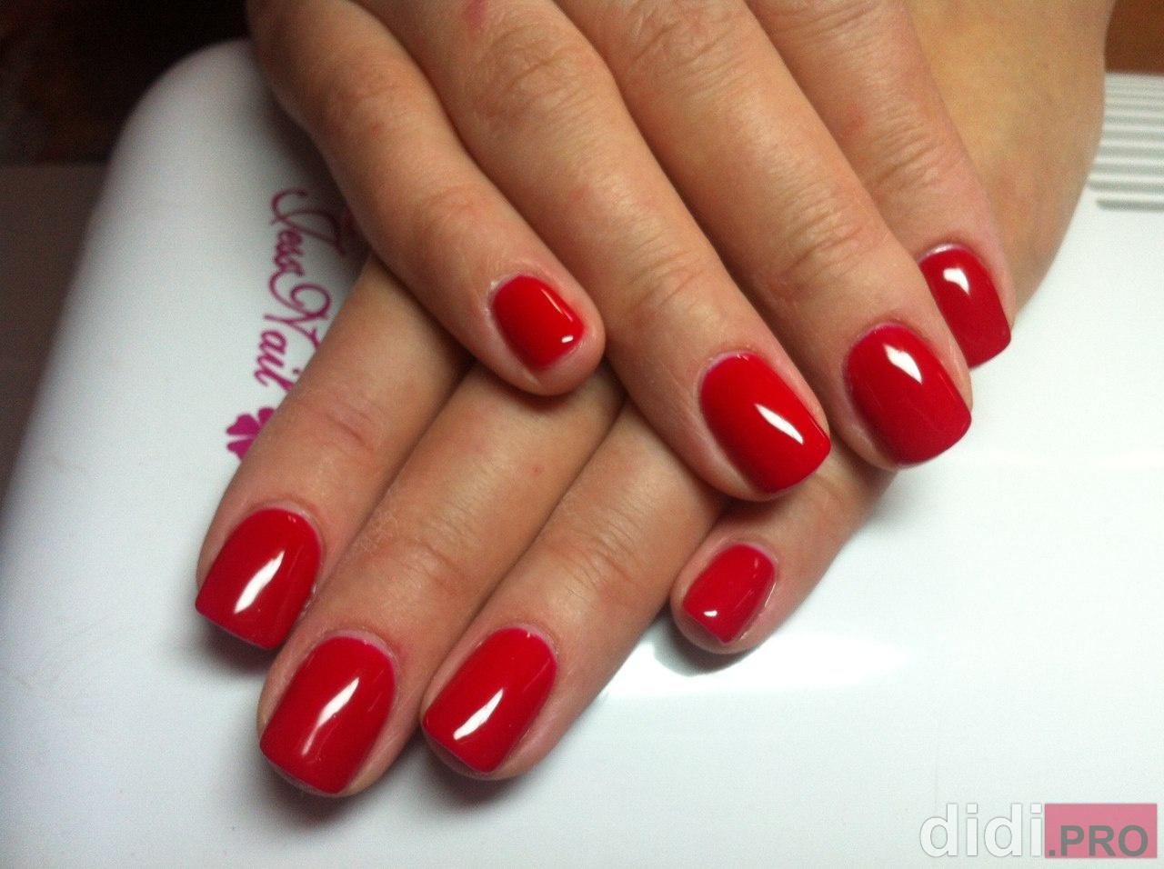 дизайн ногтей красным лаком - Тюменский издательский дом