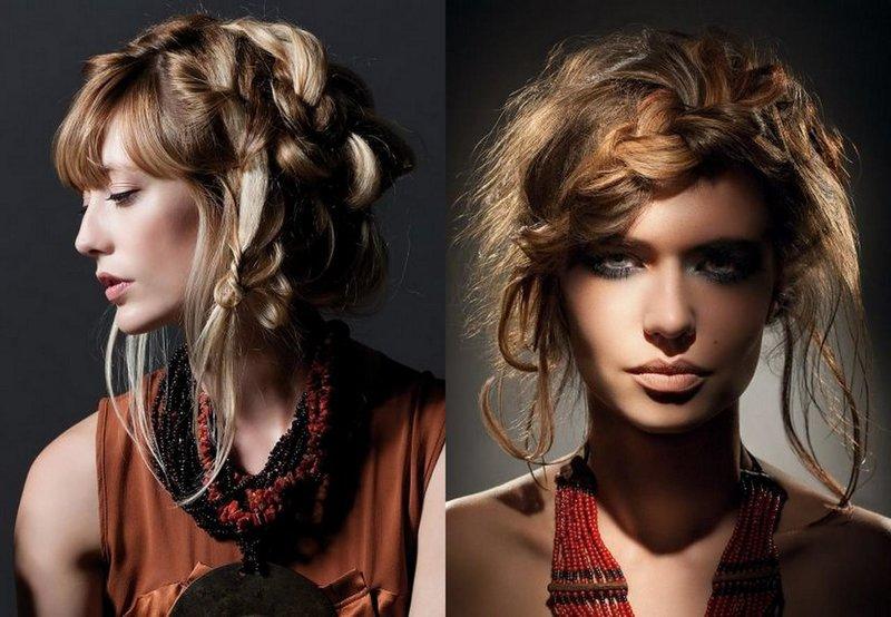 Прически на средние волосы: 100 фото самых стильных укладок | Fchannel.ru