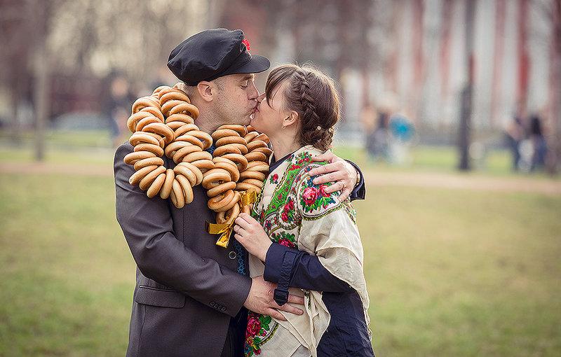 Стилизованная свадьба в русском стиле