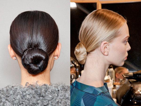 Строгая деловая прическа для длинных волос :: Локон - прически, стрижки, укладки
