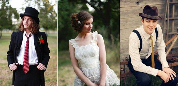 Винтажный стиль на свадьбу