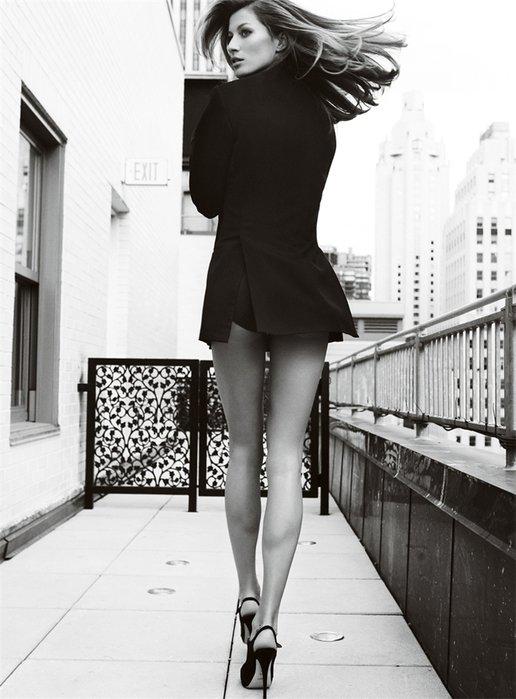 картинки модных девушек черно белых