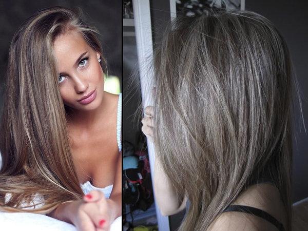 Фото пепельный цвет волос фото до и после окрашивания