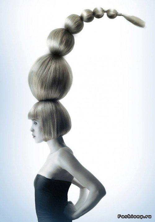 авангардные причёски фото