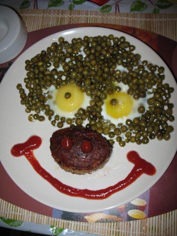Яичница-улыбка