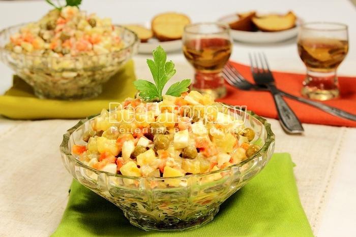 рецепты салатов с курицей пошагово с фото