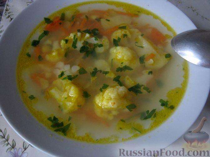суп постный из цветной капусты