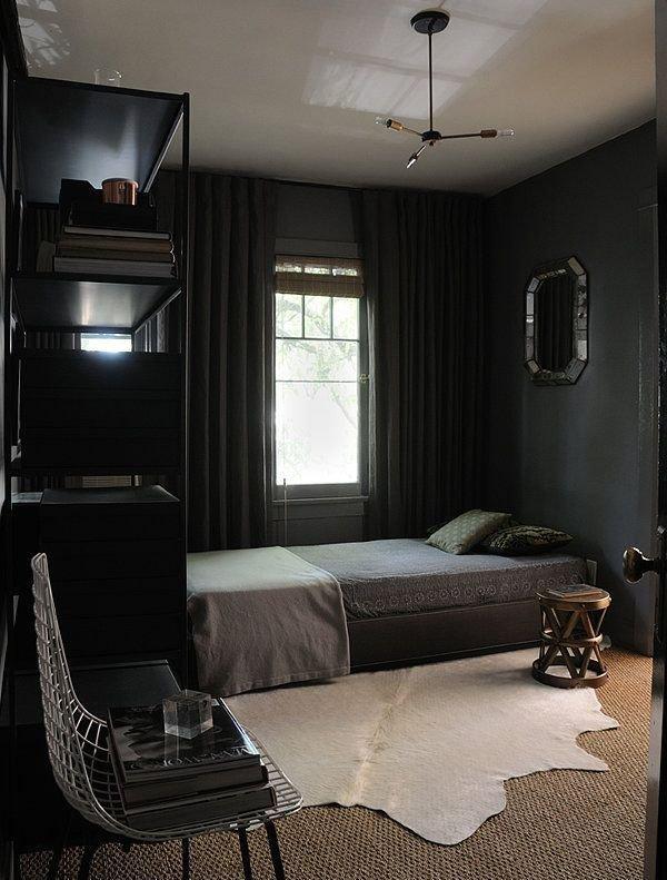 спальни темные фото