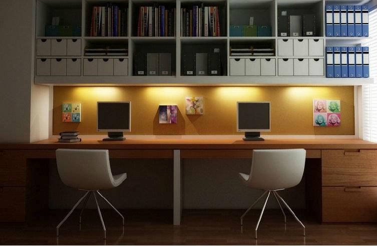 Точечное освещение над каждой рабочей зоной
