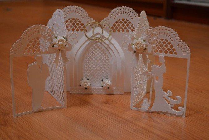 Днем святого, объемная открытки на свадьбу