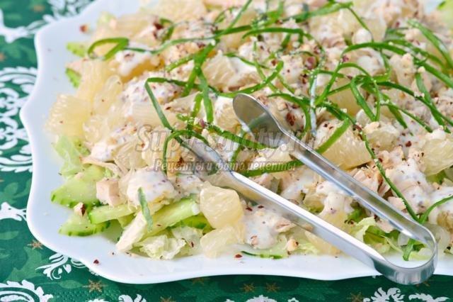 Салат с помело и куриной грудкой