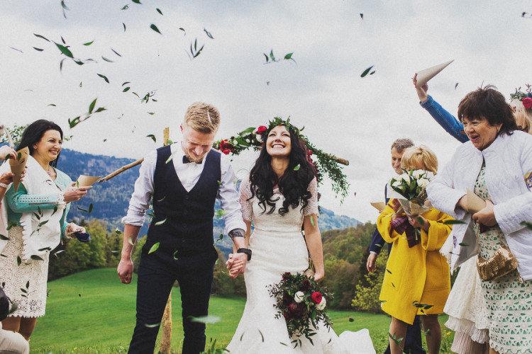 Свадьба навысоте 700м. над уровнем моря, уподножия Монблана.