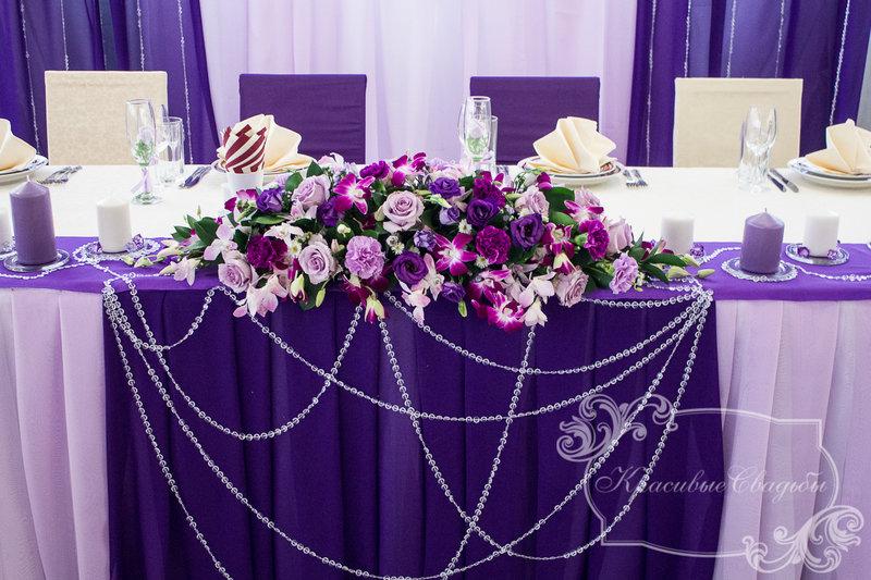 Оформление свадьбы фиолетовое