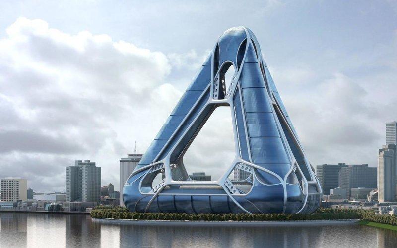 New Orleans Arcology Habitat. Место строительства: Новый Орлеан, США. Проект, представляет собой огромную пирамиду, в которой планируют возвести целый город: казино, торговые центры, офисы и жилые дома.