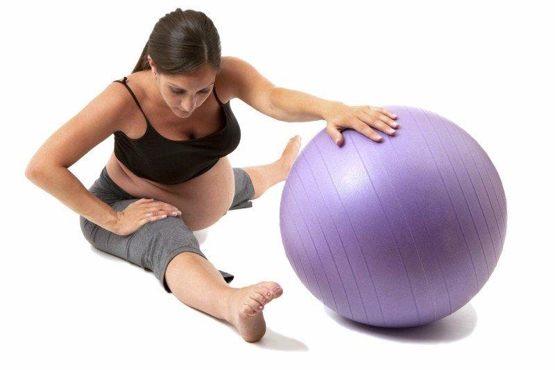 Упражнения для беременных с шаром в картинках