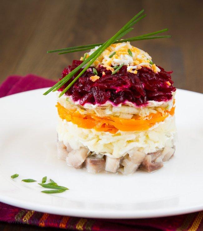 красивая подача салатов фото озера