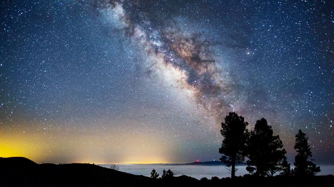 ночное звездное небо астрофотография было столько народу