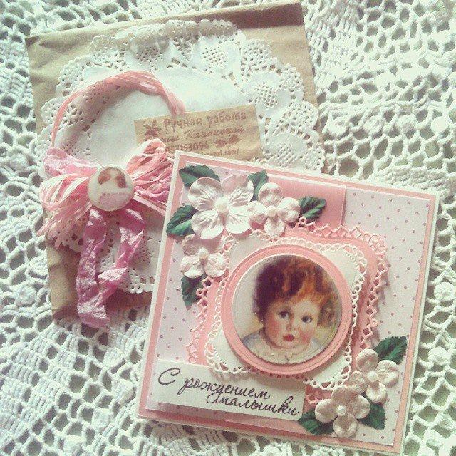 Новогодняя, открытка с рождением малышки скрапбукинг