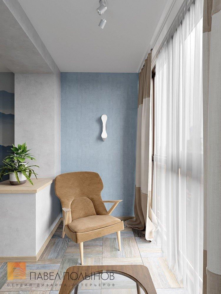 """Дизайн лоджии в проекте """"интерьер квартиры в современном сти."""