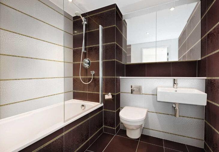 плитка в маленькую ванную комнату фото дизайн