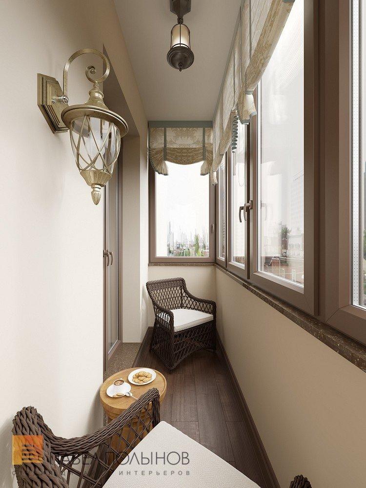 """Лоджия в проекте """"интерьер двухкомнатной квартиры в жк """"клас."""