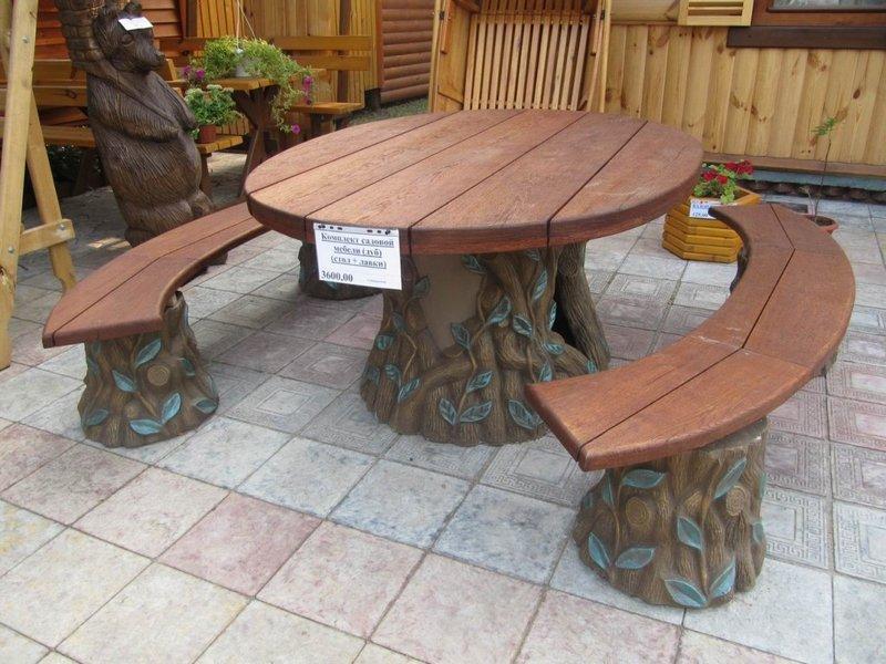 Столы для беседки своими руками