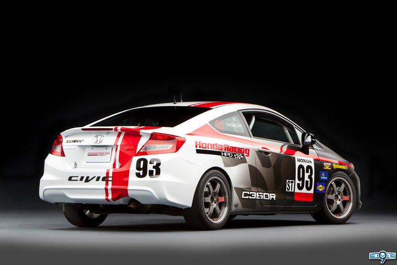 Honda Civic Si Coupe Racecar Compass 360 Racing by HPD