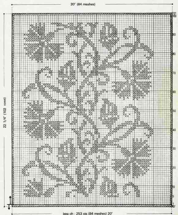 Филейное вязание с картинками